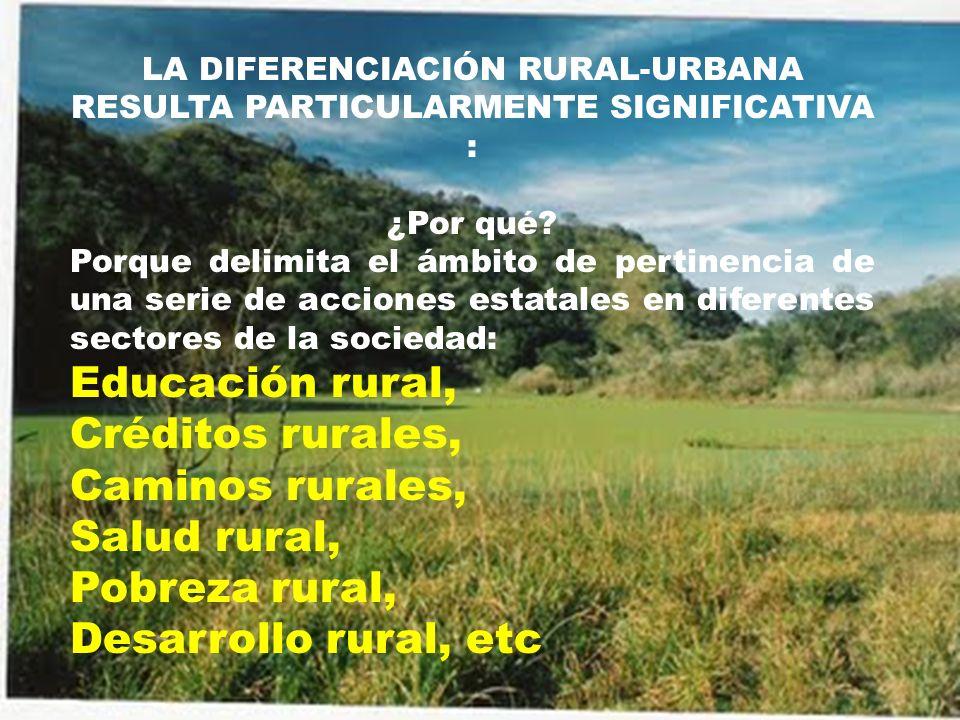 A escala regional desde 1990 se viene planteando la idea de una nueva ruralidad ¿Donde.
