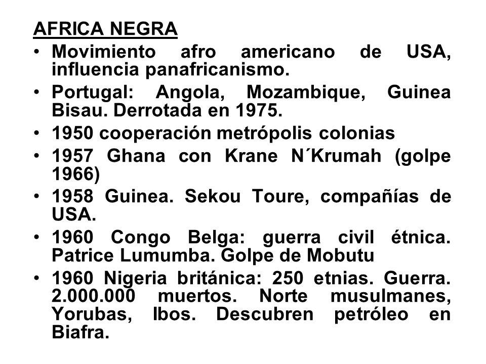 AFRICA NEGRA Movimiento afro americano de USA, influencia panafricanismo.