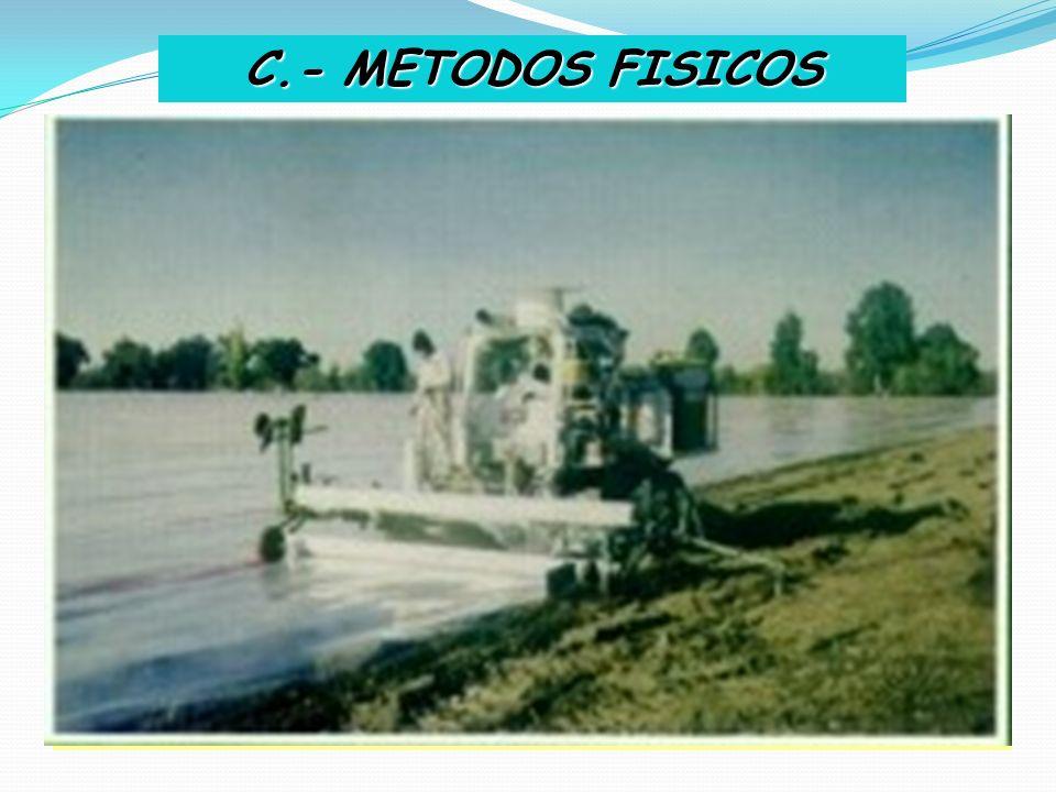 C.- METODOS FISICOS I.- SOLARIZACION Método Preventivo. Reduce el inóculo inicial. Debilita a muchos fitopatógenos según su termosensibilidad y la acu