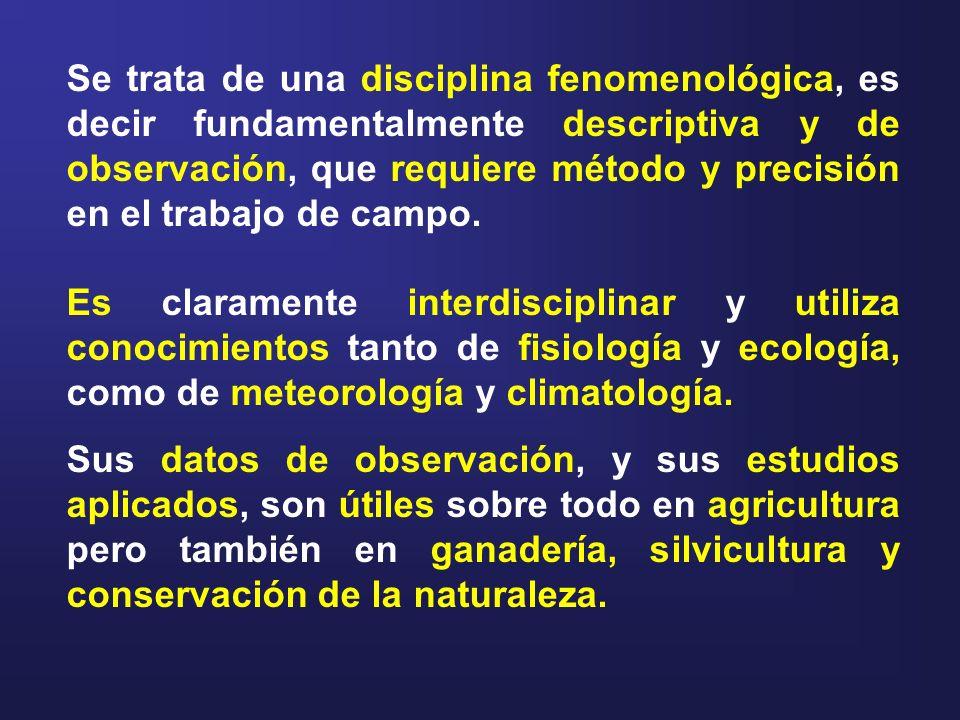 Se trata de una disciplina fenomenológica, es decir fundamentalmente descriptiva y de observación, que requiere método y precisión en el trabajo de ca