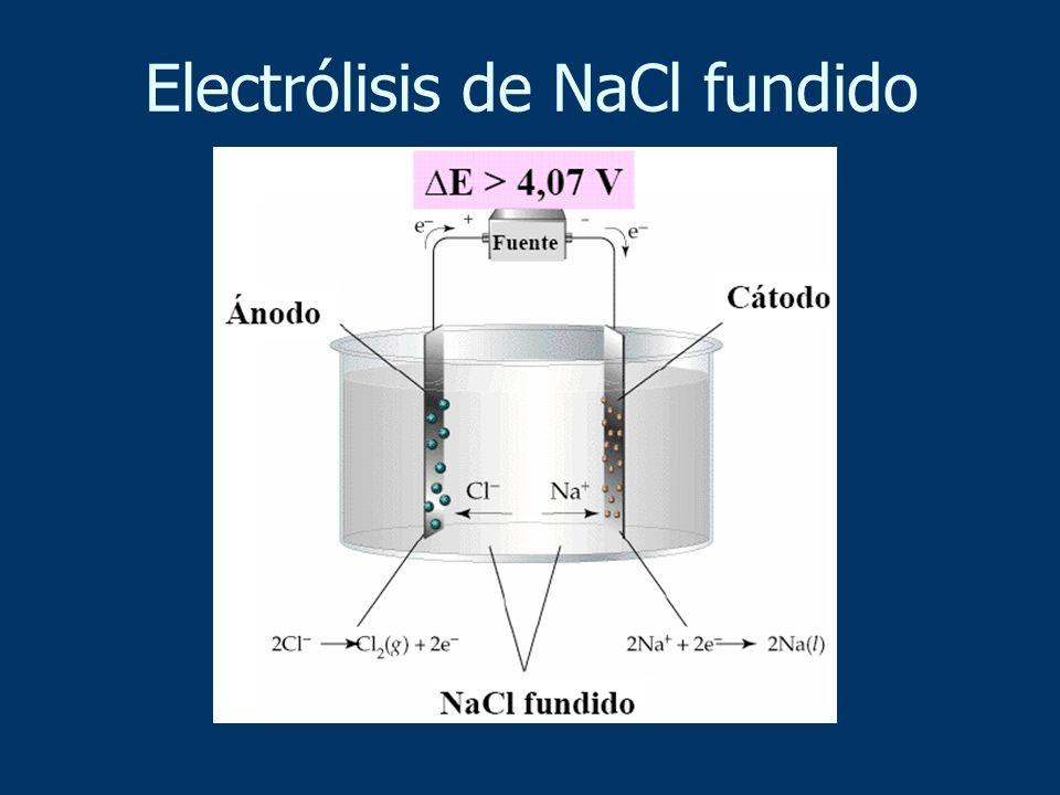 Electrólisis de NaCl fundido
