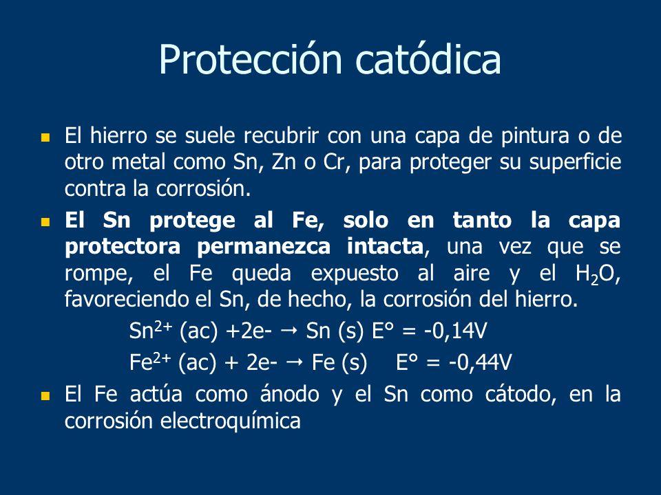 El hierro se suele recubrir con una capa de pintura o de otro metal como Sn, Zn o Cr, para proteger su superficie contra la corrosión. El Sn protege a