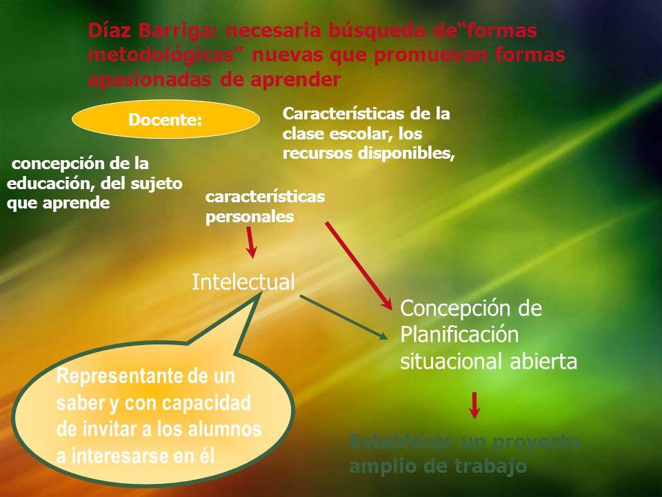 Díaz Barriga: necesaria búsqueda deformas metodológicas nuevas que promuevan formas apasionadas de aprender Características de la clase escolar, los r