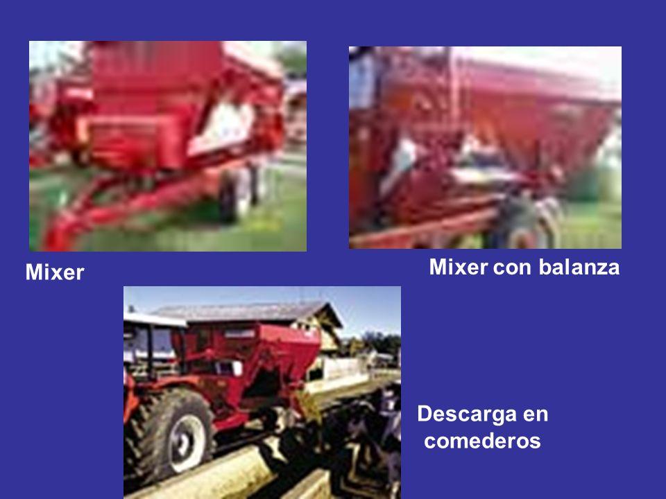 Mixer Mixer con balanza Descarga en comederos