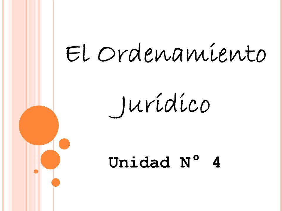 El Ordenamiento Jurídico Unidad N° 4