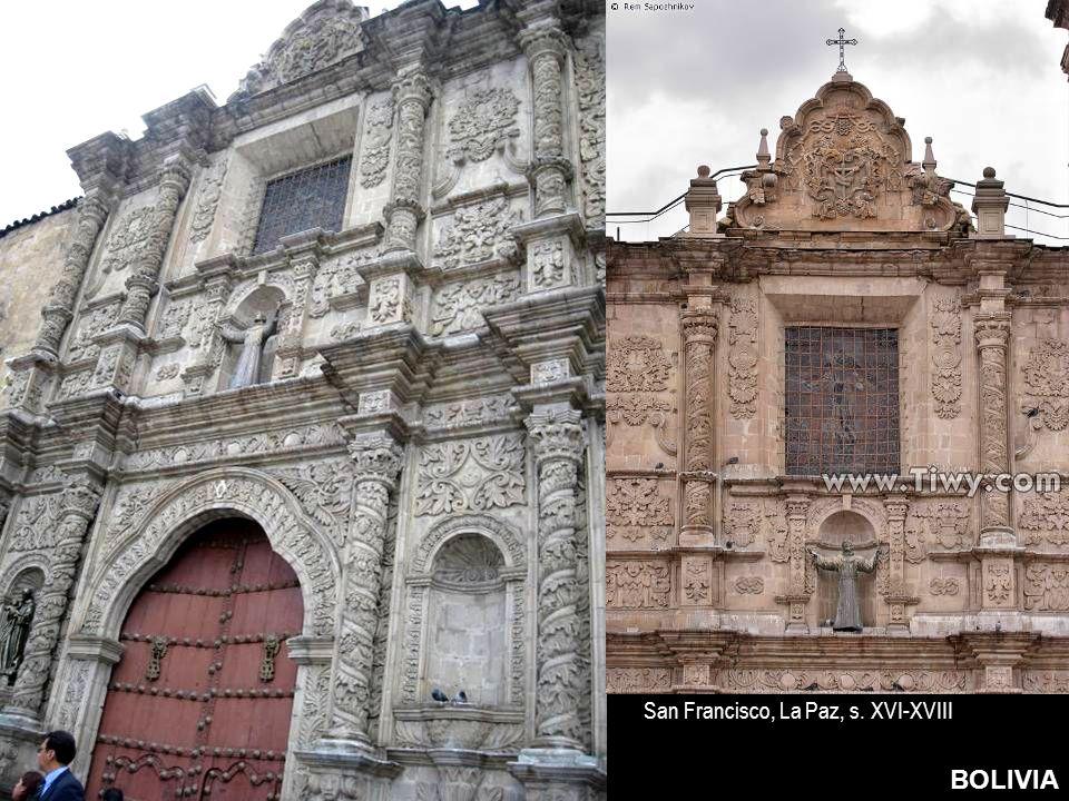 BOLIVIA San Francisco, La Paz, s. XVI-XVIII