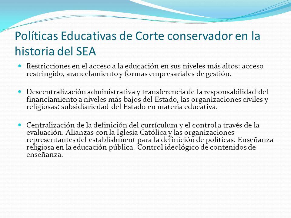 Políticas Educativas de Corte conservador en la historia del SEA 1916– 1917: Reformas del Ministro de Instrucción Pública Carlos Saavedra Lamas sobre la denominada Escuela Intermedia.