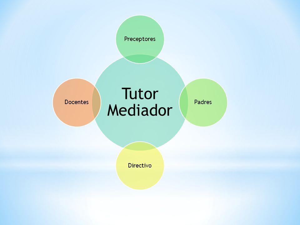 Tutor Mediador PreceptoresPadresDirectivoDocentes
