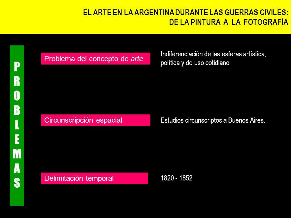 Estudios circunscriptos a Buenos Aires. Indiferenciación de las esferas artística, política y de uso cotidiano Circunscripción espacial Problema del c