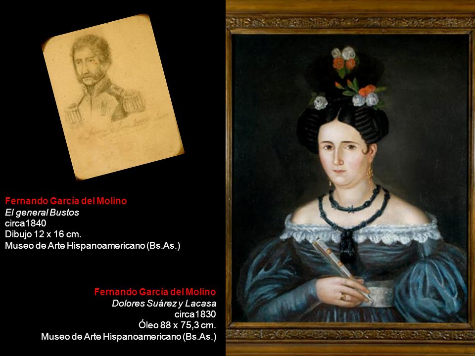 Fernando García del Molino El general Bustos circa1840 Dibujo 12 x 16 cm. Museo de Arte Hispanoamericano (Bs.As.) Fernando García del Molino Dolores S