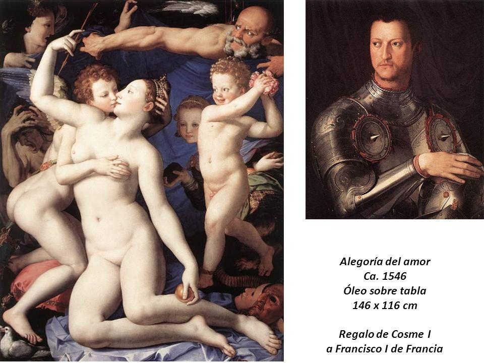 Alegoría del amor Ca. 1546 Óleo sobre tabla 146 x 116 cm Regalo de Cosme I a Francisco I de Francia Agnolo Bronzino (1503-1572)