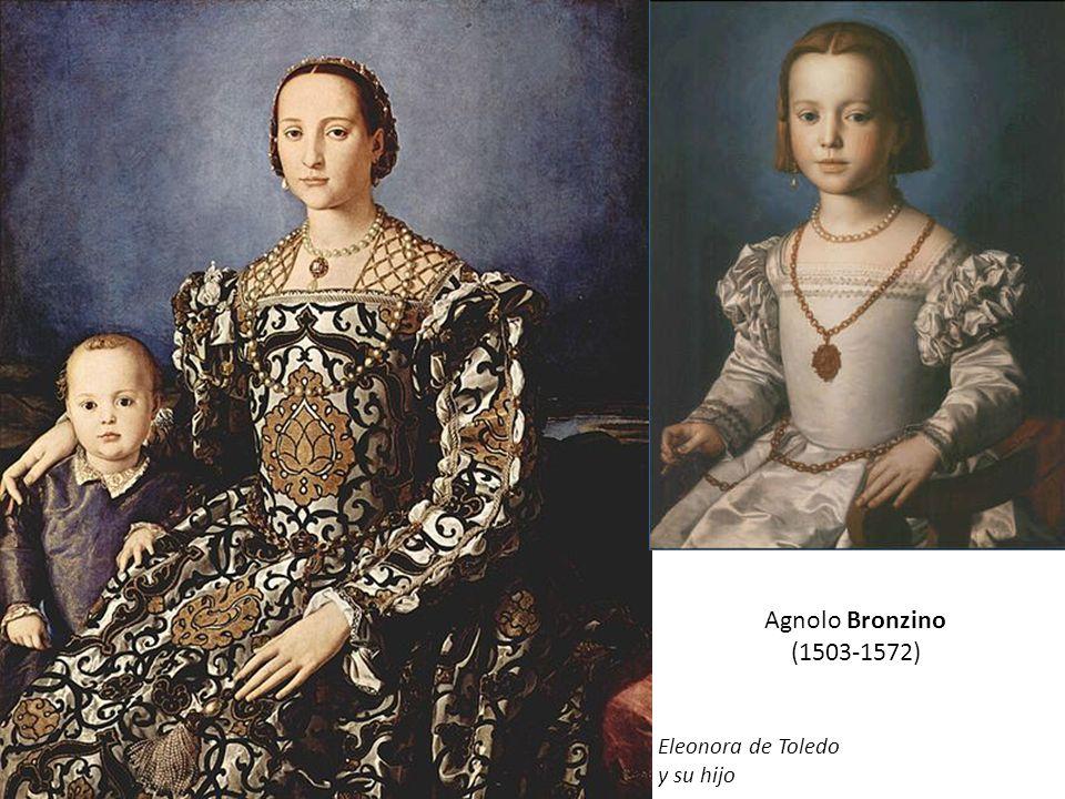 Agnolo Bronzino (1503-1572) Eleonora de Toledo y su hijo Cosme I con su armadura