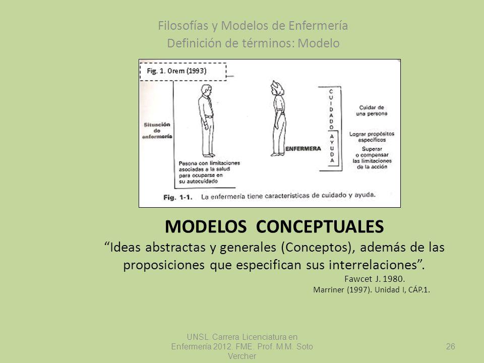 MODELOS CONCEPTUALES Ideas abstractas y generales (Conceptos), además de las proposiciones que especifican sus interrelaciones. Fawcet J. 1980. Marrin