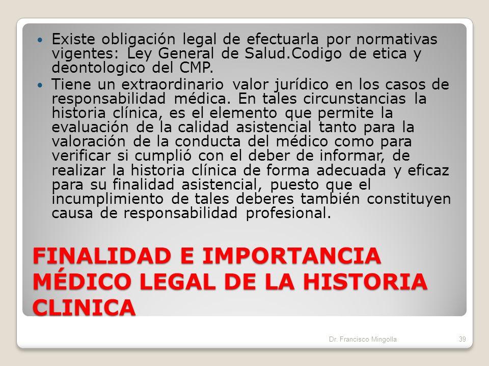 La historia clínica tiene como finalidad primordial recoger datos del estado de salud del paciente con el objeto de facilitar la Atención medica. Doce
