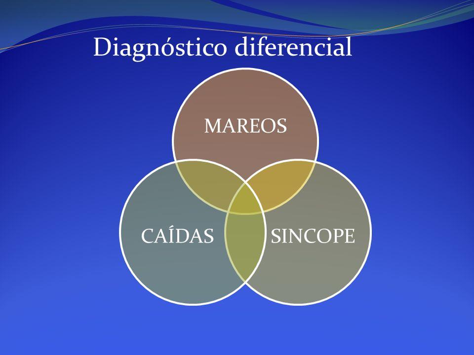 MAREOS SINCOPECAÍDAS Diagnóstico diferencial