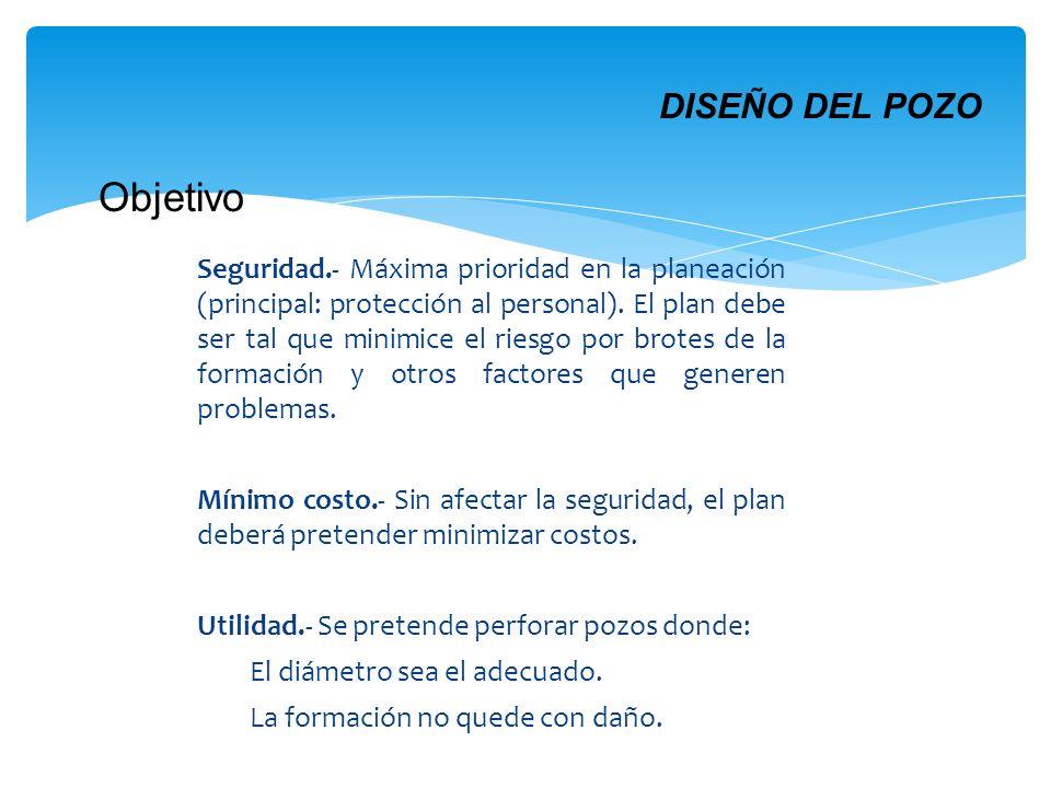 Seguridad.- Máxima prioridad en la planeación (principal: protección al personal). El plan debe ser tal que minimice el riesgo por brotes de la formac