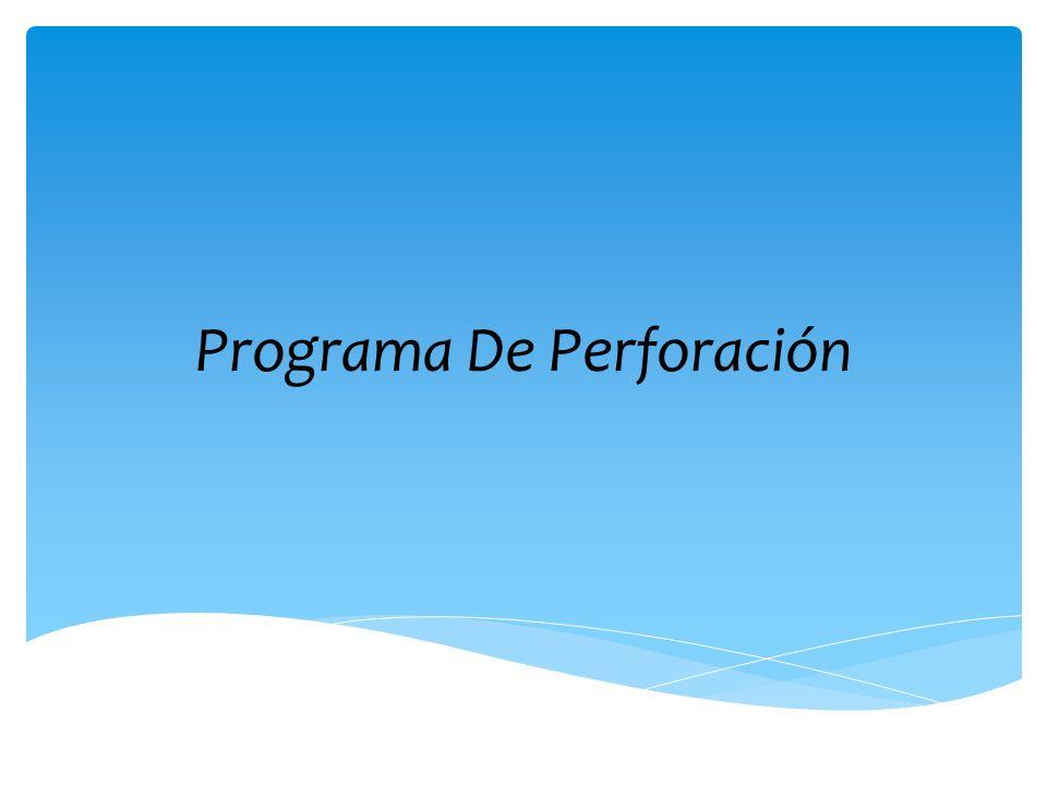 Programa De Perforación