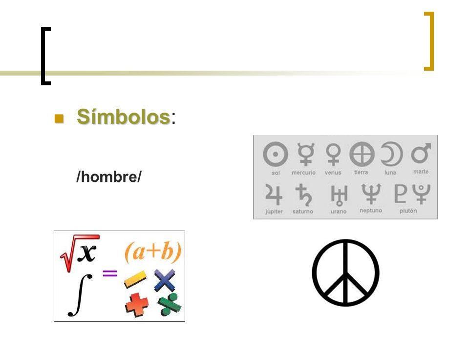 Símbolos Símbolos: /hombre/