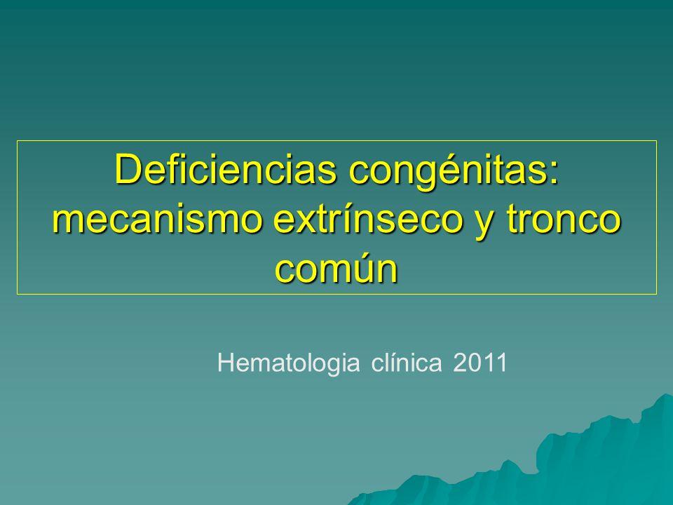 FISIOPATOLOGIA Coagulopatías plasmáticas: 1)Alteraciones de la Síntesis: - Déficit congénitos de factores - Hepatopatías agudas o crónicas - Deficiencia de vitamina K - Alteraciones cualitativas 2)Depuración aumentada: - CID - Fibrinolisis primaria - Proteolisis inespecífica 3) Inactivación – inhibición: - Anticoagulante lúpico - Inhibidores de Factor