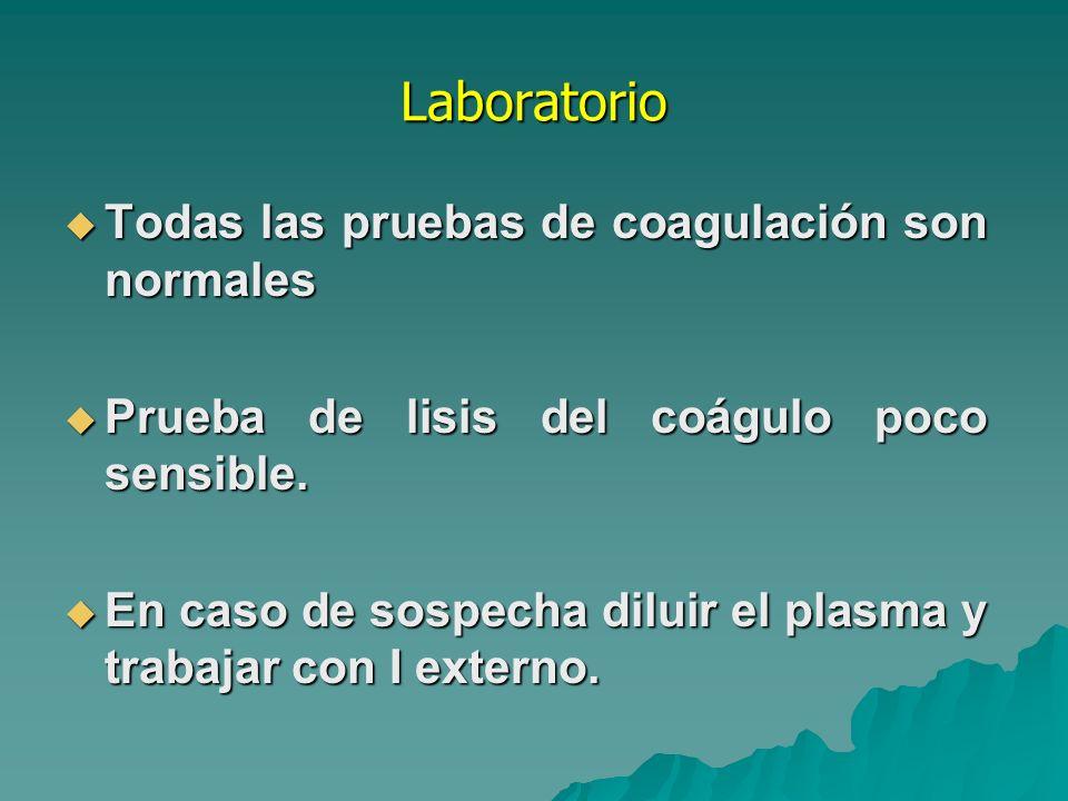 Tratamiento Crioprecipitados o concentrados de factor XIII.