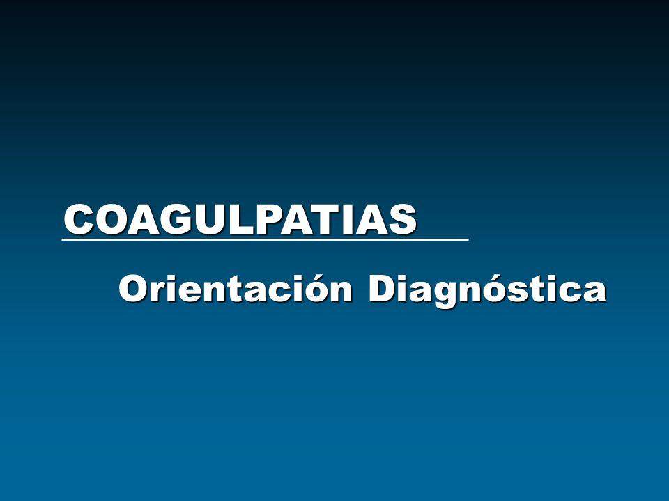 COAGULPATIAS Orientación Diagnóstica