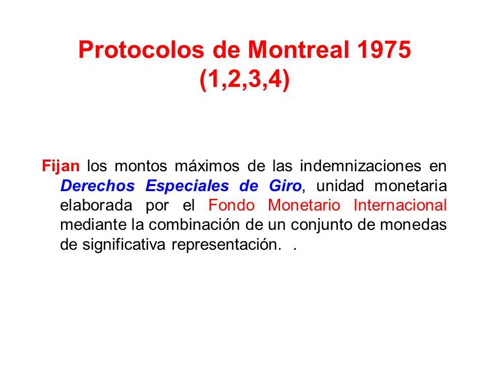 Protocolo de Guatemala 1971 Aún no ha entrado en vigencia Modifica el esquema tradicional de la responsabilidad subjetiva seguido por el Sistema de Va