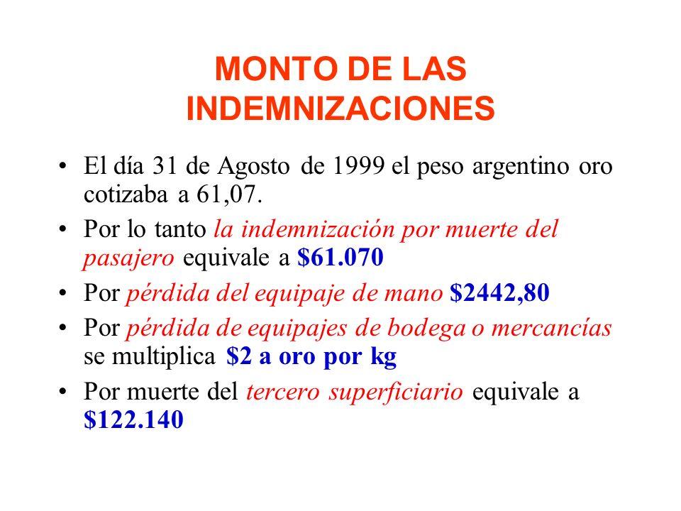 LIMITACION En caso de muerte o lesiones no excederá de pesos 2000 argentinos oro por persona fallecida o lesionada. La limitación se establece en el C