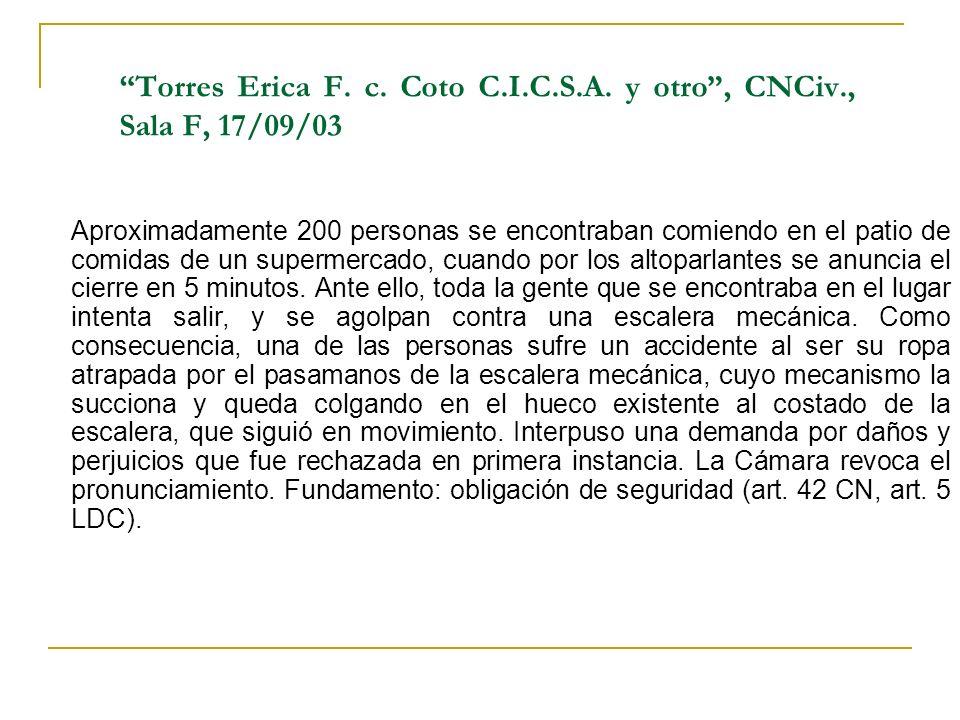 Torres Erica F.c. Coto C.I.C.S.A.