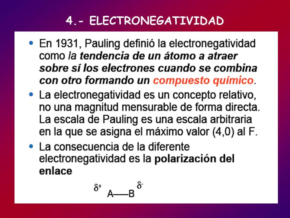 4.- ELECTRONEGATIVIDAD