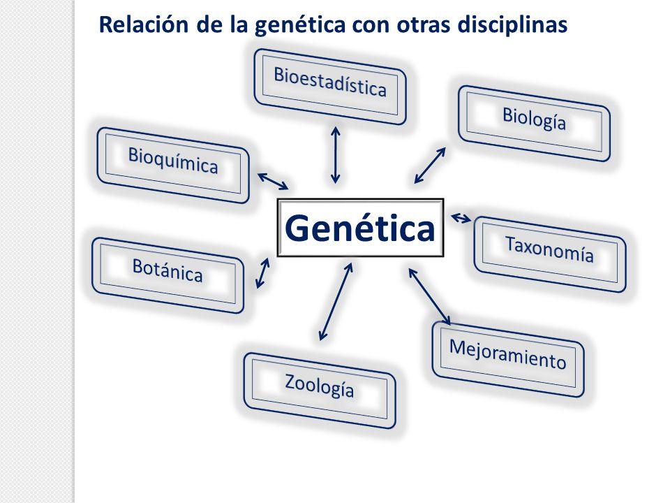 Relación de la genética con otras disciplinas Genética