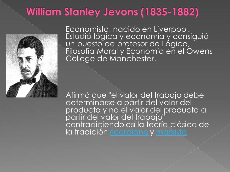 Economista, nacido en Liverpool. Estudió lógica y economía y consiguió un puesto de profesor de Lógica, Filosofía Moral y Economía en el Owens College