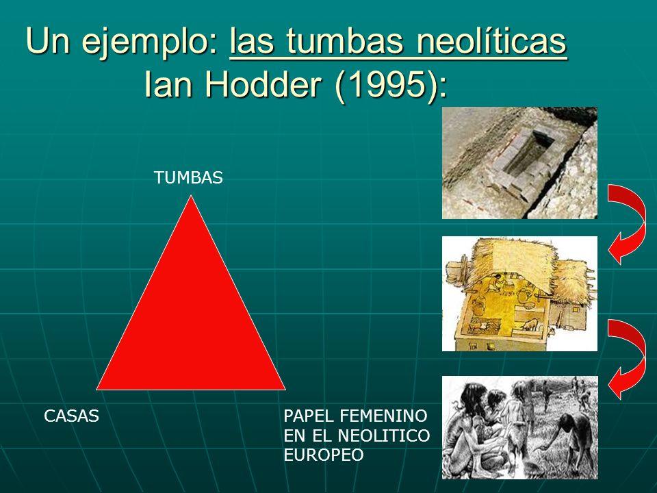 Un ejemplo: las tumbas neolíticas Ian Hodder (1995): TUMBAS CASASPAPEL FEMENINO EN EL NEOLITICO EUROPEO