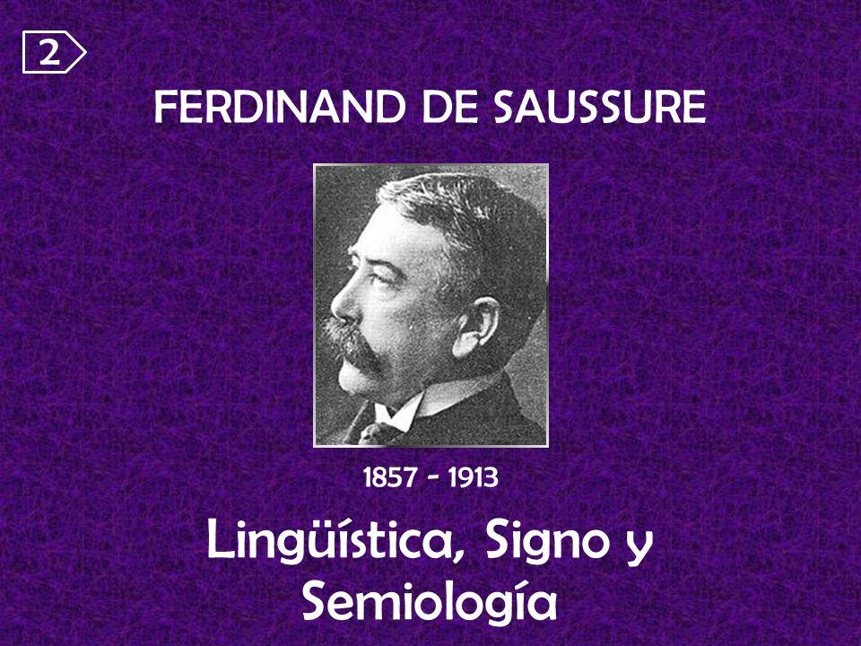 FERDINAND DE SAUSSURE Lingüística, Signo y Semiología 1857 - 1913 2