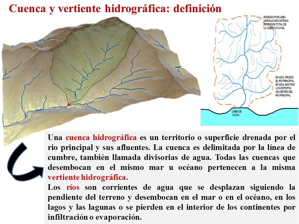 Una cuenca hidrográfica es un territorio o superficie drenada por el rio principal y sus afluentes. La cuenca es delimitada por la línea de cumbre, ta