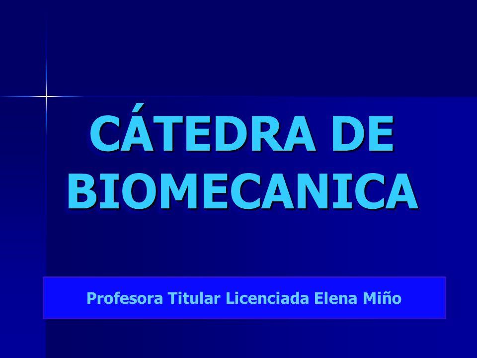 CÁTEDRA DE BIOMECANICA Profesora Titular Licenciada Elena Miño