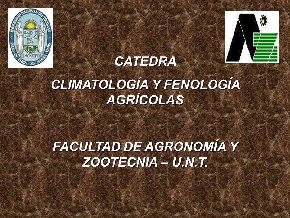 CLASIFICACIÓN DE LOS CLIMAS Objetivos y generalidades.