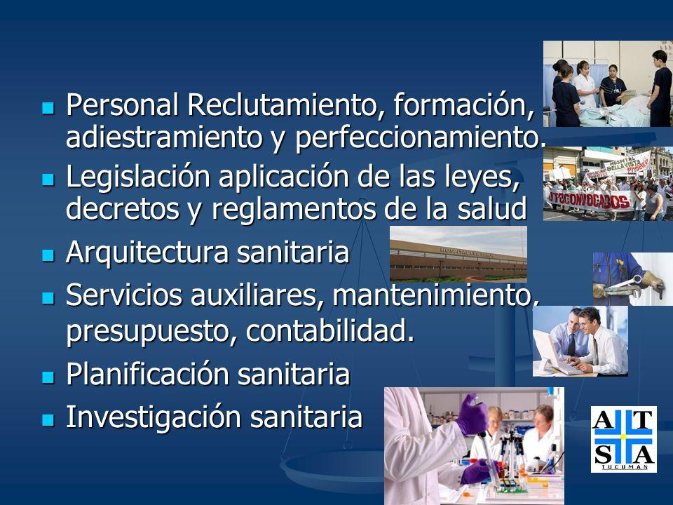 Personal Reclutamiento, formación, adiestramiento y perfeccionamiento. Personal Reclutamiento, formación, adiestramiento y perfeccionamiento. Legislac