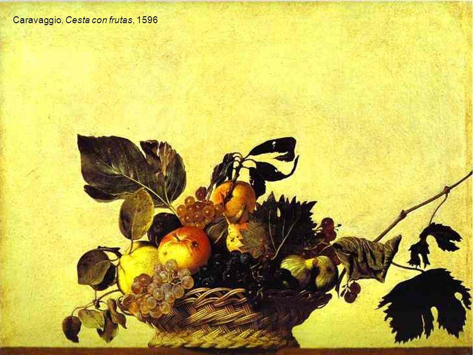 Francisco de Zurbarán, Bodegón, 1640 Caravaggio, Cesta con frutas, 1596