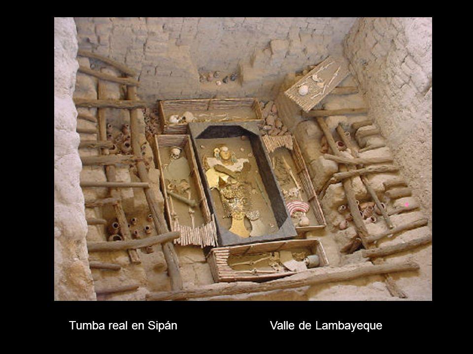 Tumba real en SipánValle de Lambayeque