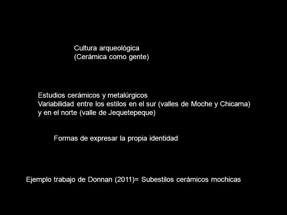 Estudios cerámicos y metalúrgicos Variabilidad entre los estilos en el sur (valles de Moche y Chicama) y en el norte (valle de Jequetepeque) Cultura a