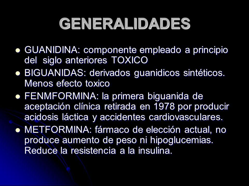 GENERALIDADES GUANIDINA: componente empleado a principio del siglo anteriores TOXICO GUANIDINA: componente empleado a principio del siglo anteriores T