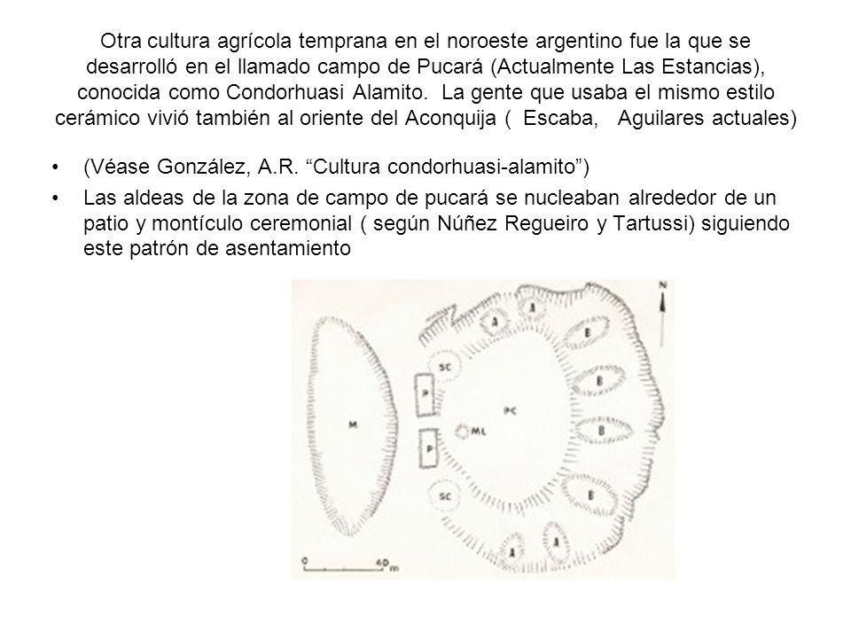 Otra cultura agrícola temprana en el noroeste argentino fue la que se desarrolló en el llamado campo de Pucará (Actualmente Las Estancias), conocida c