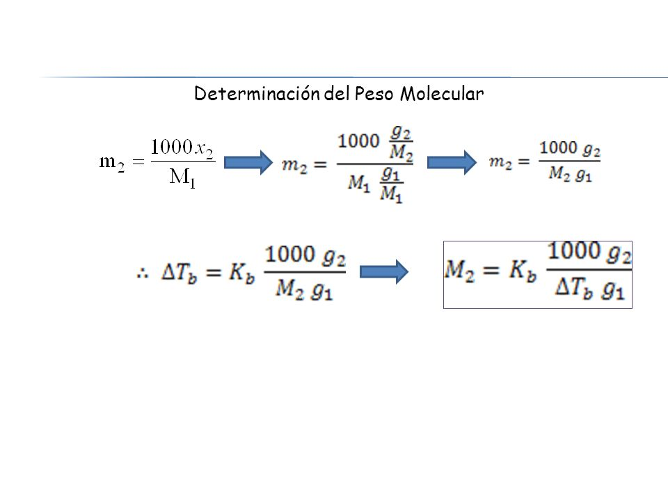 Determinación del Peso Molecular