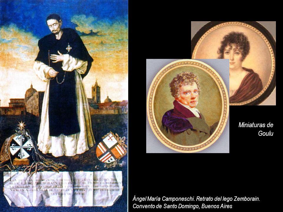 Miniaturas de Goulu Ángel María Camponeschi. Retrato del lego Zemborain. Convento de Santo Domingo, Buenos Aires