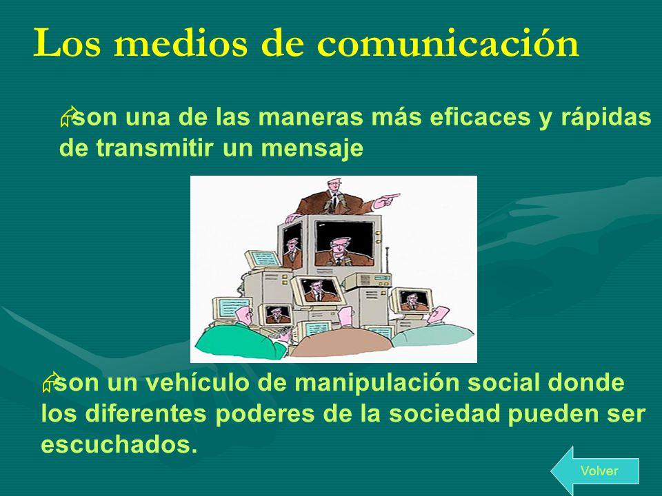 Los medios de comunicación son una de las maneras más eficaces y rápidas de transmitir un mensaje son un vehículo de manipulación social donde los dif