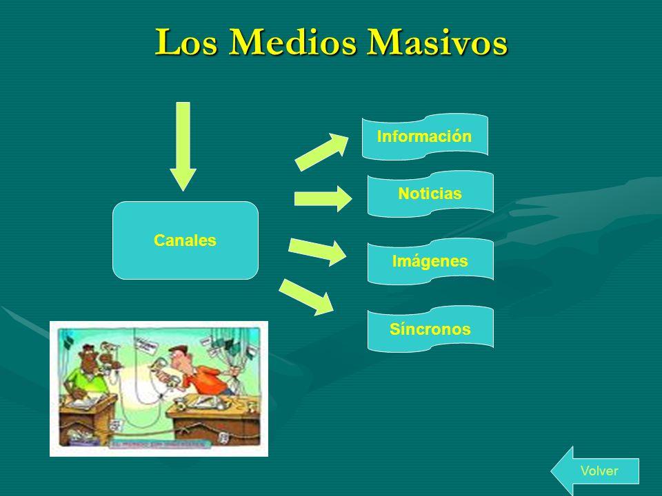 Los Medios Masivos Canales Información Noticias Imágenes Síncronos Volver