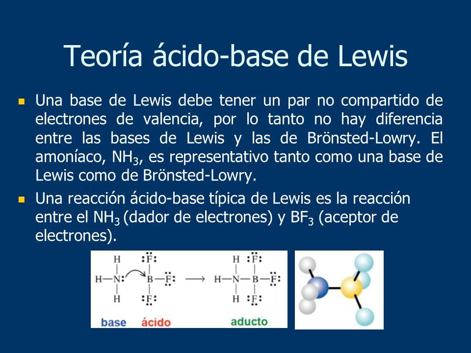 Una base de Lewis debe tener un par no compartido de electrones de valencia, por lo tanto no hay diferencia entre las bases de Lewis y las de Brönsted