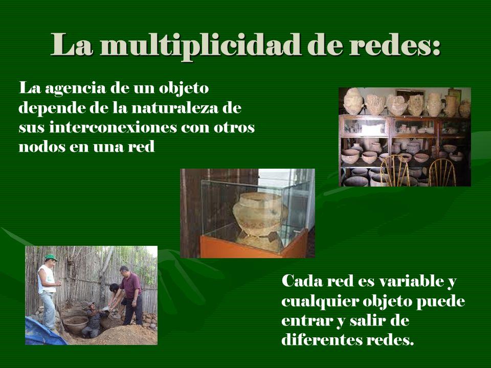 La multiplicidad de redes: La agencia de un objeto depende de la naturaleza de sus interconexiones con otros nodos en una red Cada red es variable y c