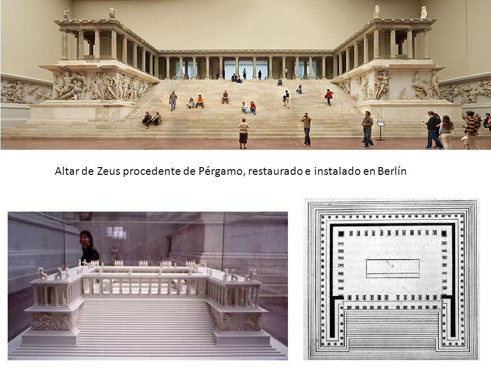 Altar de Zeus procedente de Pérgamo, restaurado e instalado en Berlín