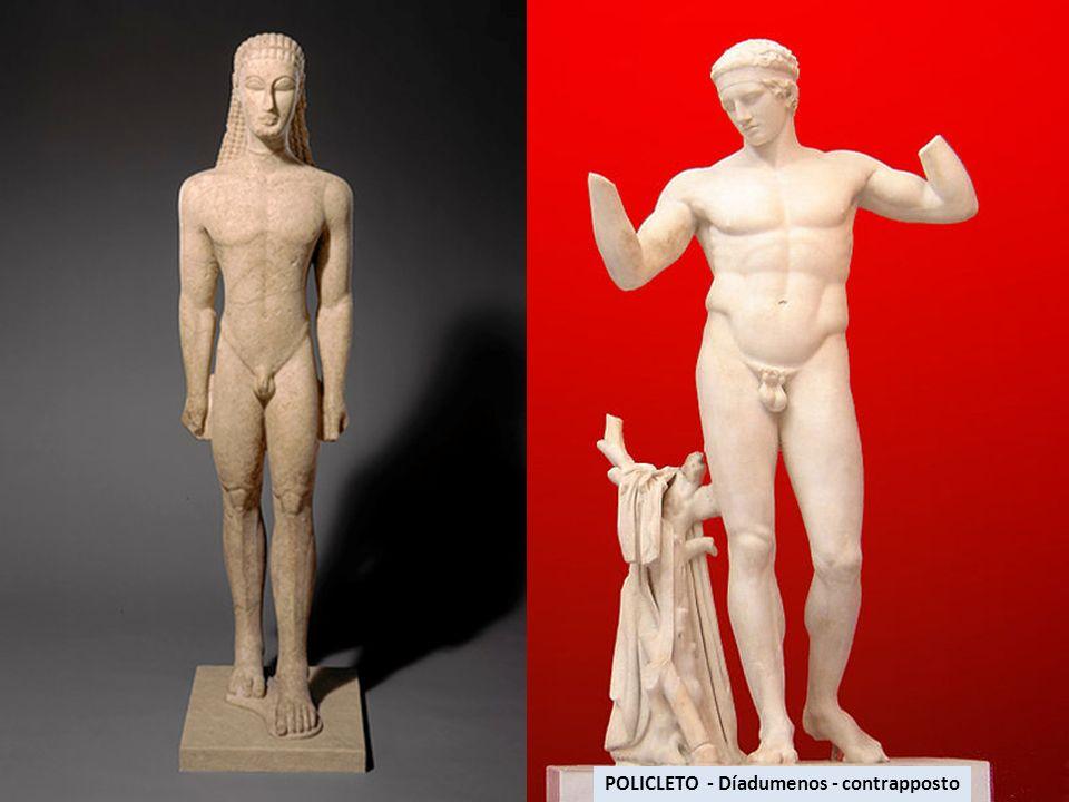 Título: Doríforo.Autor: Polícleto el Viejo. Cronología: Siglo V a.C.